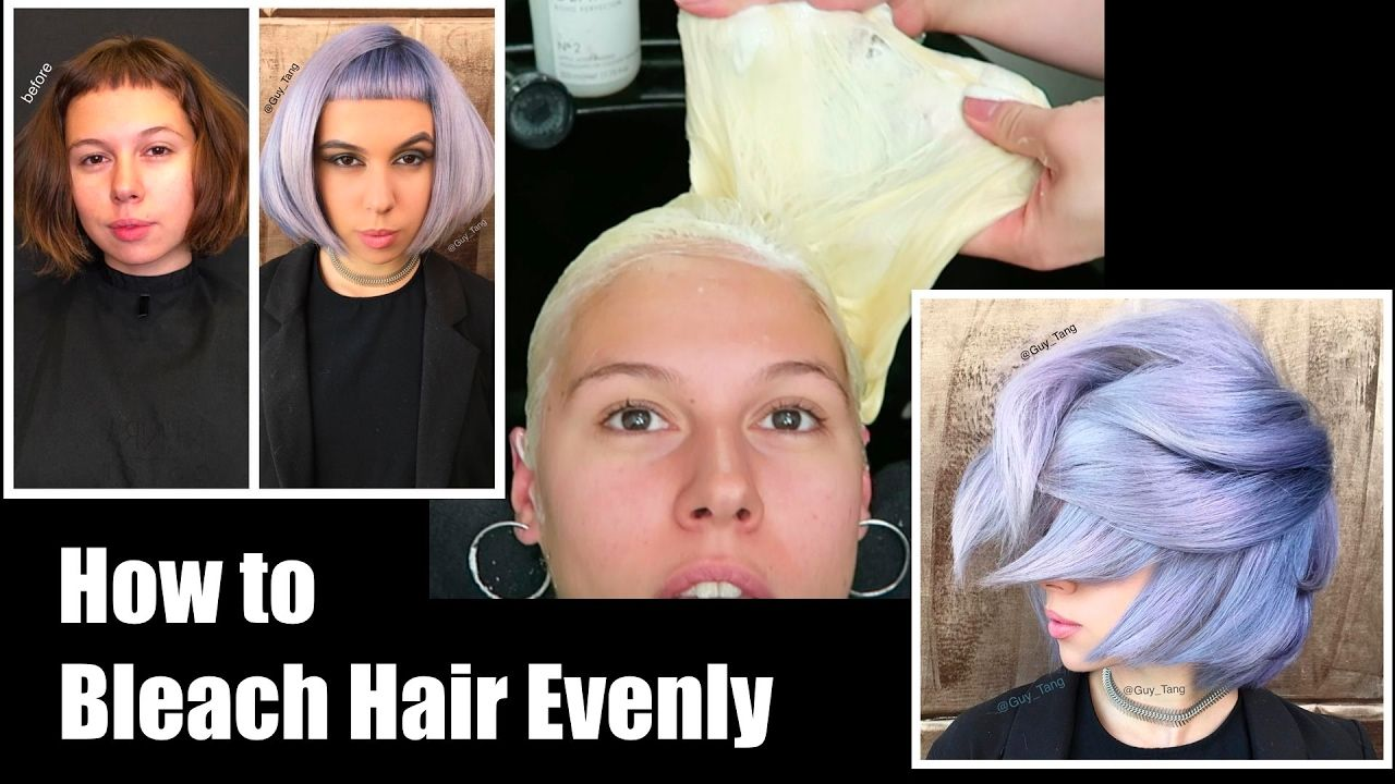 How to bleach hair
