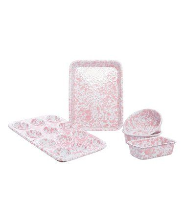 This Pink Marble First Baking Set is perfect! #zulilyfinds