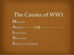 what were the 4 main causes of ww1