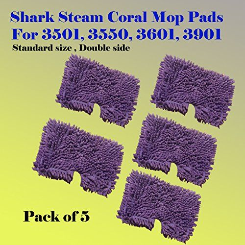 5 Replacement XL Pads compatible with Shark Pocket Steam Mop XLT3501 S3501