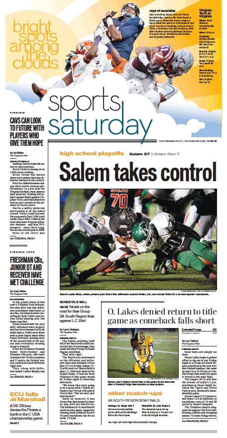 Sports, Nov. 30, 2013.