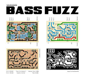Perf And Pcb Effects Layouts Colorsound Bass Fuzz Em 2020 Pedais De Guitarra Guitarras Baixo Guitarra