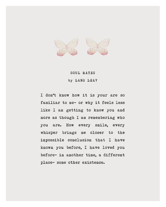 Lang Leav love poem, soul mates love poetry art, gifts for valentine's day, gifts for her, love poetry gift, lang leav soul mates