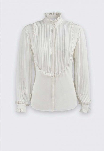 8a6c7f621389c New Collection FW15 I Anne Fontaine I Romantic is a Silk Victorian Ruffle  Blouse  annefontaine  whiteshirt  shirt  blouse  silkshirt  ruffleblouse    ...
