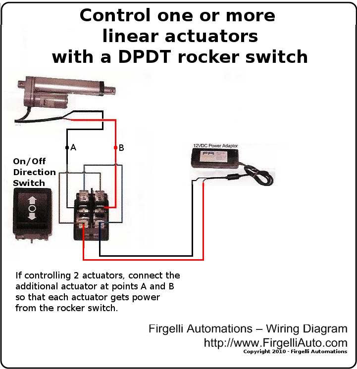 Controling Linear Actuator With Rocker Switch