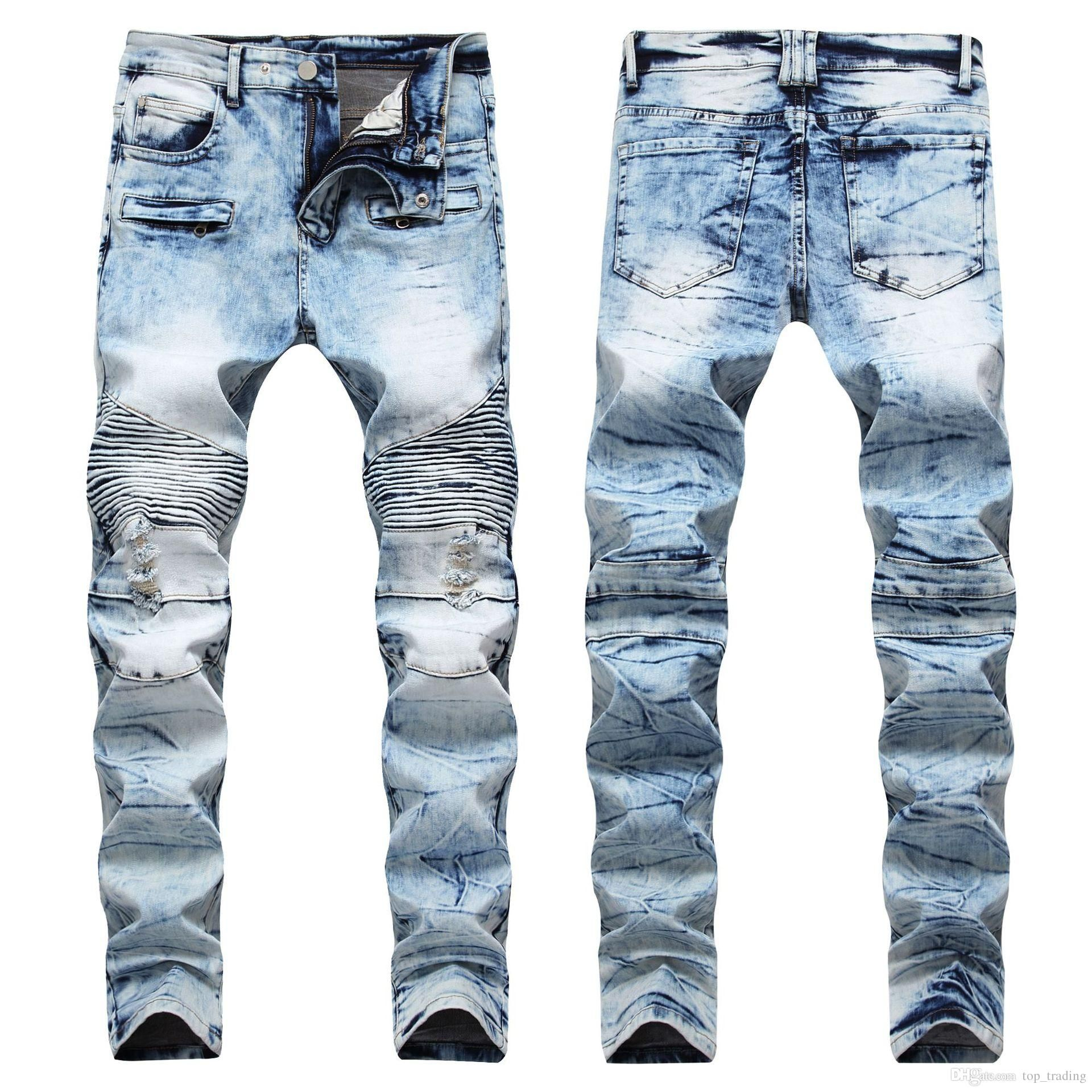 2019 Fashion Men'S Distressed Ripped Jeans Famous Fashion ...
