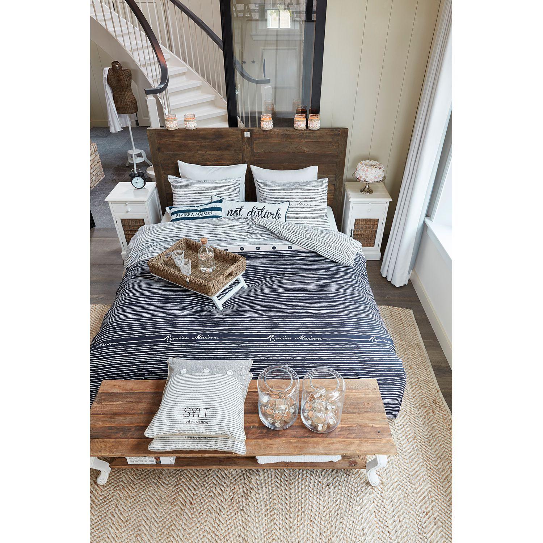 bettw sche rivi ra maison sylt stripe maritime inspiration vom strand bettw sche renforce. Black Bedroom Furniture Sets. Home Design Ideas