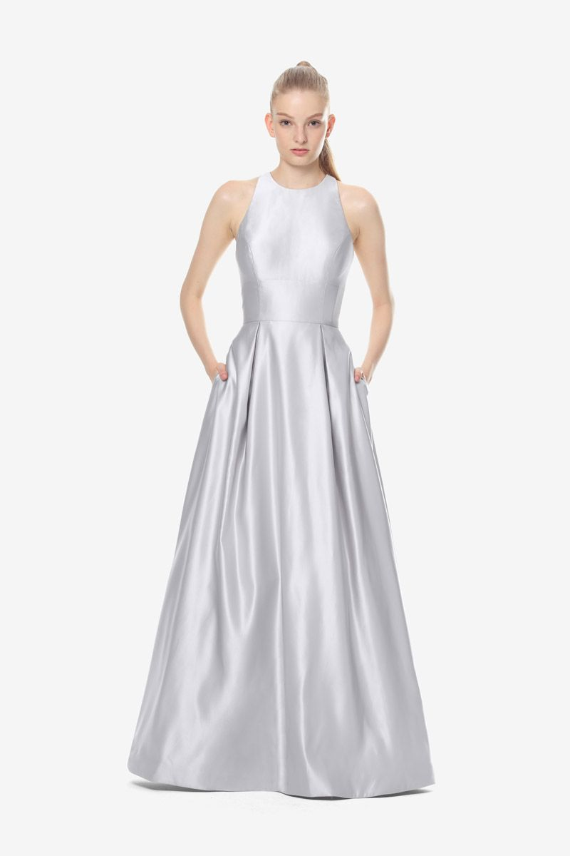 Brooke bridesmaid gown by david tutera for gather gown silver brooke bridesmaid gown by david tutera for gather gown silver bridesmaid gown satin ombrellifo Choice Image