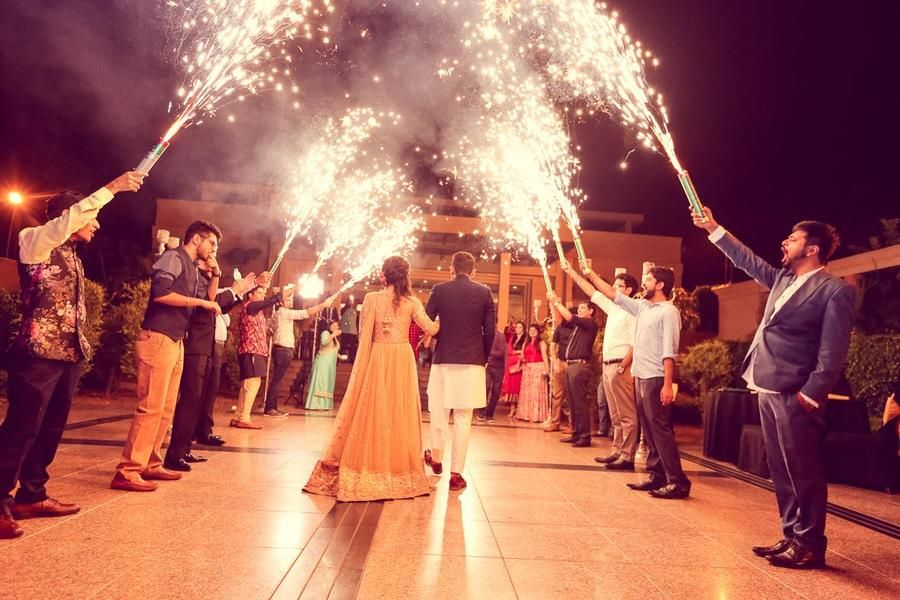 Grand Entry Of Bride And Groom On Their Engagement Ceremony Wedding Entrance Bride Entry Pakistani Wedding