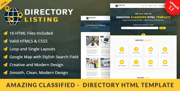 Viavi Directory Listing Is A Html Template With Latest And Creative Design Which Can Be Used For Any Websites Also Have Many Amazing Features