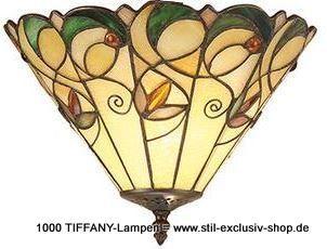 EXTRA Modell ! Ideal Für Kleinere Räume ( Flur, Etc.) 31ø Zierliche + Ca.  27cm Hohe TIFFANY Decken Lampe JAMELIA. Ca. 31cmø , 27cm Hoch. 2 X E 14, Je  40W.