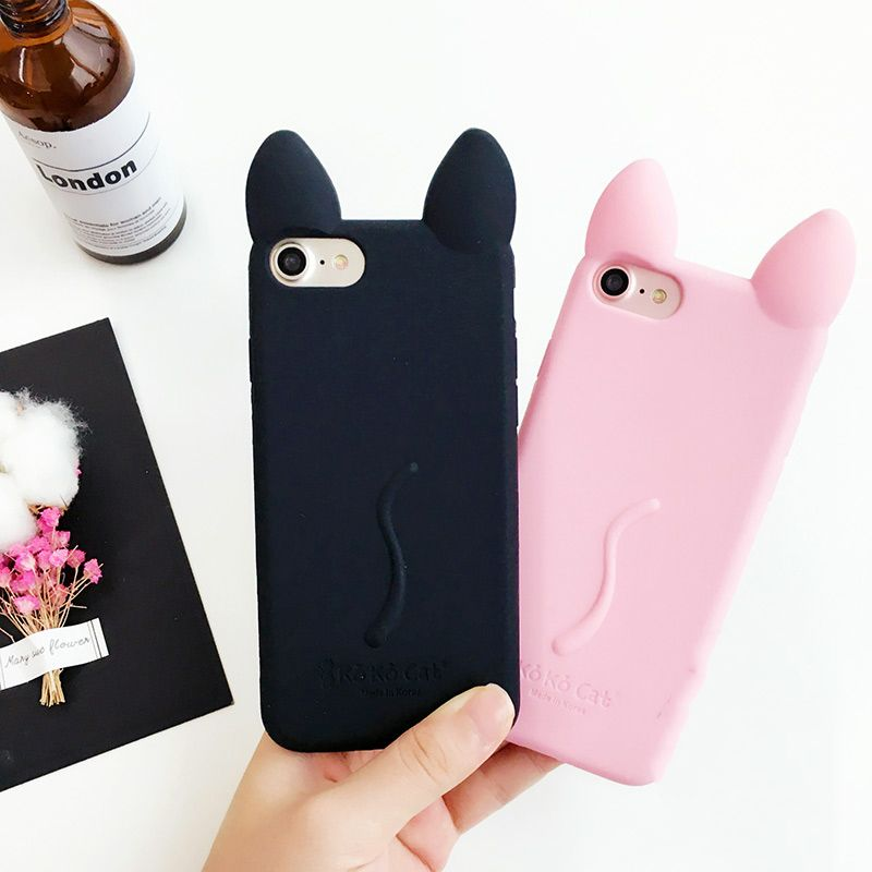 714fd2713f8f9 Cartoon Cute Kitty Case for iPhone | Accessories | Silicone phone ...