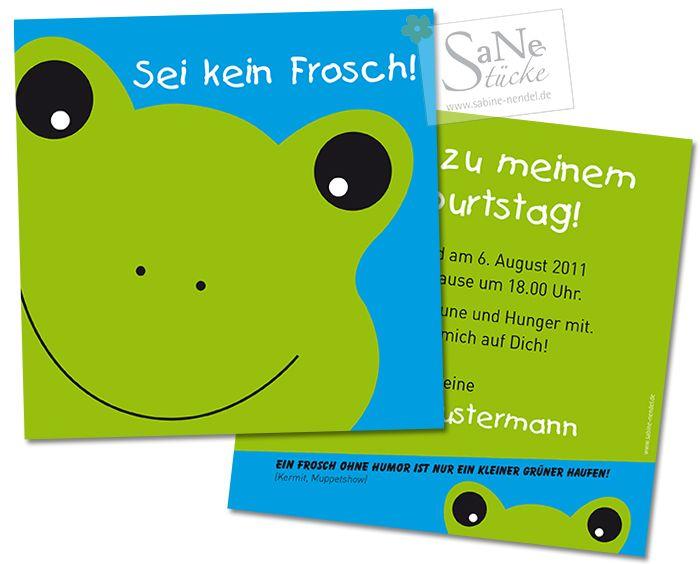 Einladungskarte Zum Geburtstag Frosch Geburtstag Geburt