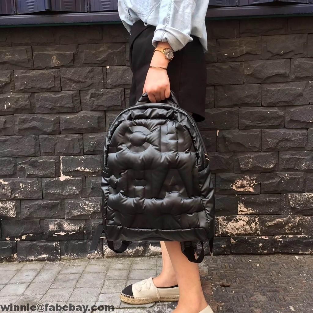 0799abf990dc Chanel Embossed Nylon Chanel Doudoune Backpack Bag | Chanel | Chanel ...