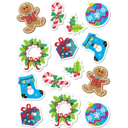 Pegatinas de motivos navideños variados 70 pegatinas Stickers