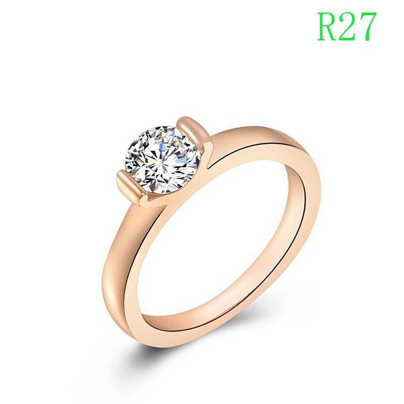 R27 Niestandardowe pierścień dla kobiet mają 3 kolory chioce srebrny