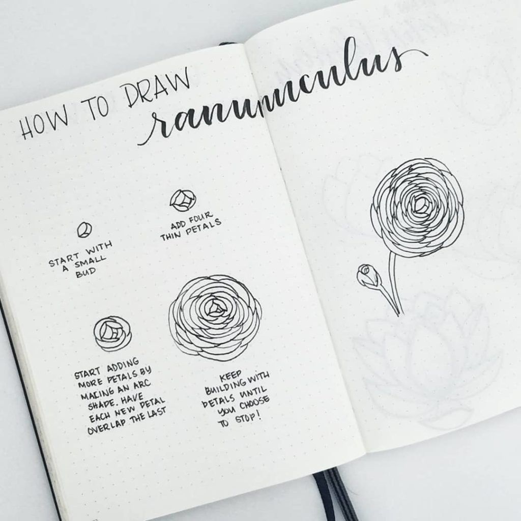 How to Draw Easy Flower Doodles for Bullet Journal Spreads is part of Flower doodles, Doodle art flowers, Easy flower drawings, Flower drawing, Easy drawings, Drawings - How to draw beautiful flower doodles in your bullet journal! These easy flower drawing tutorials will have you doodling flower patterns all over your bujo