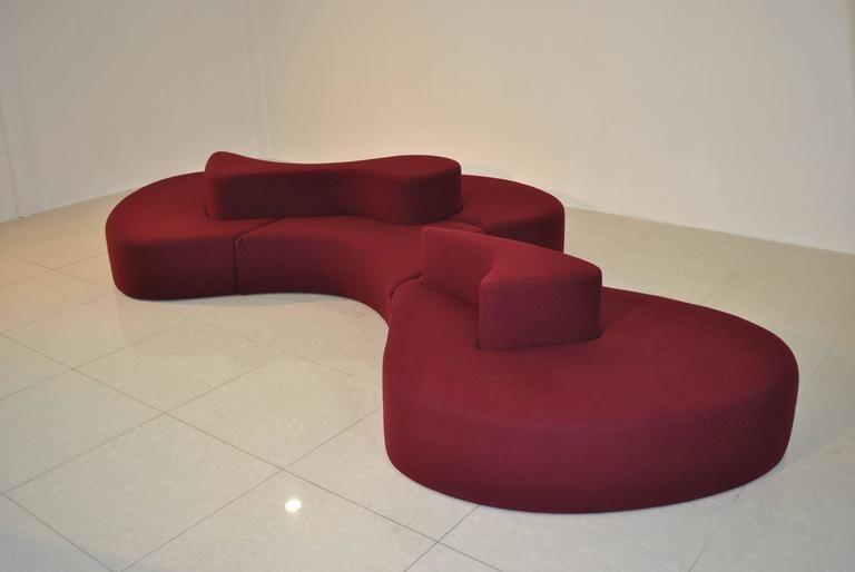 Monumental 1980s Island Sofa 2
