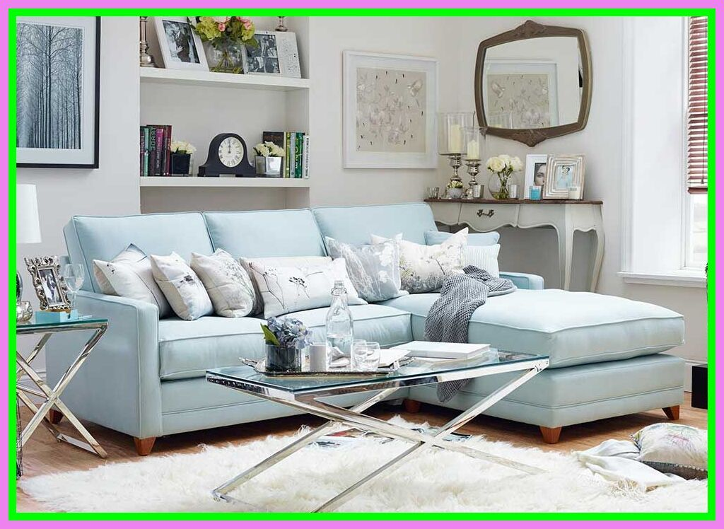 Pin On Green Couch With Blue Pillows