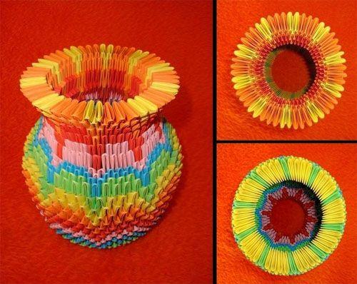 3d origami tall flower vase 3d origami pinterest modular 3d origami tall flower vase mightylinksfo