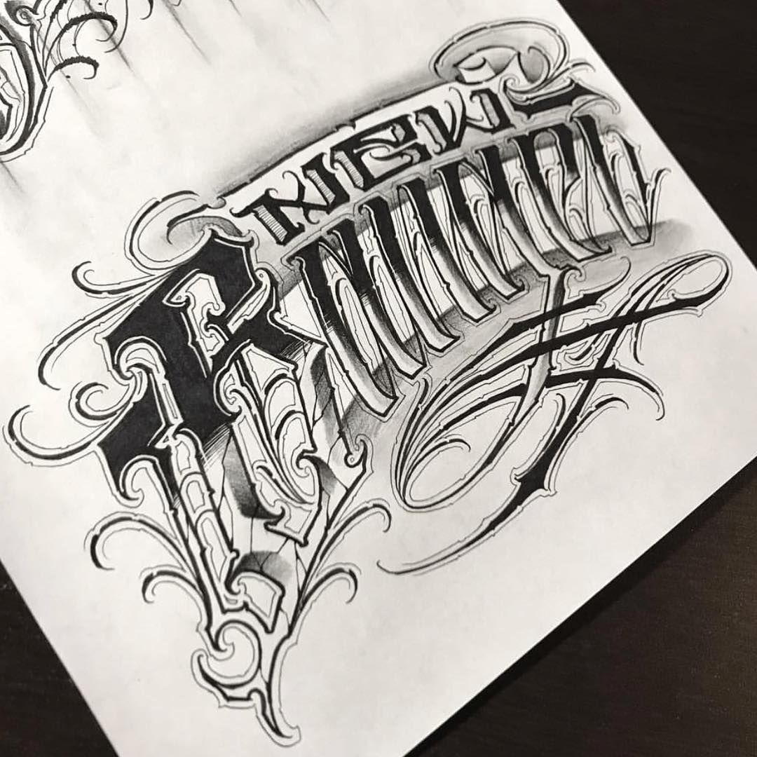 Done B Chicano Tattoos Lettering Chicano Lettering