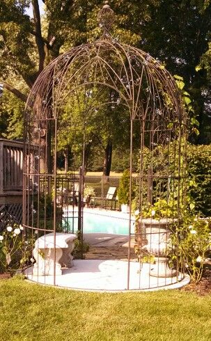 Wrought Iron Gazebo Pergola Plans Roofs Pergola Garden Gazebo