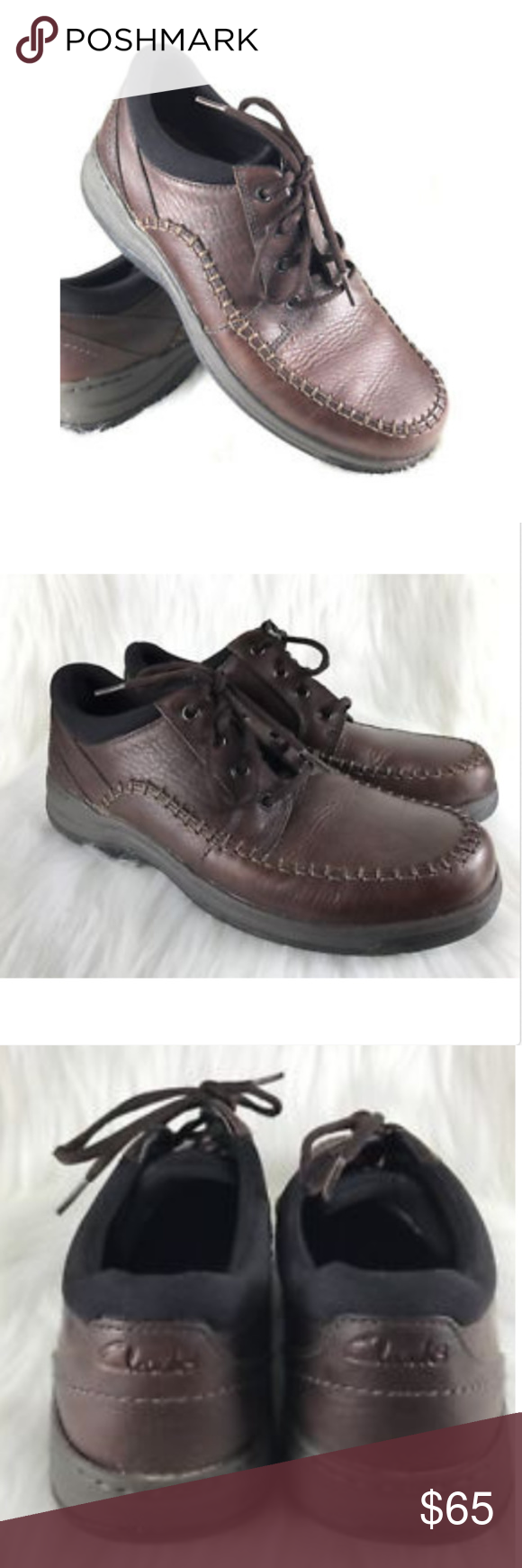 69a3914120a9 Clarks Portland 2 Tie Casual Shoe Brown Leather 8 New w o Tags Clarks  Unstructured Portland 2 Tie Casual Oxford Brown Leather Size 8