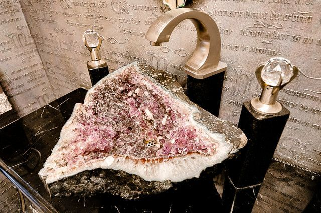 Photo of Amethyst Geode Basin. An ultimate luxury. www.stonesmiths.com