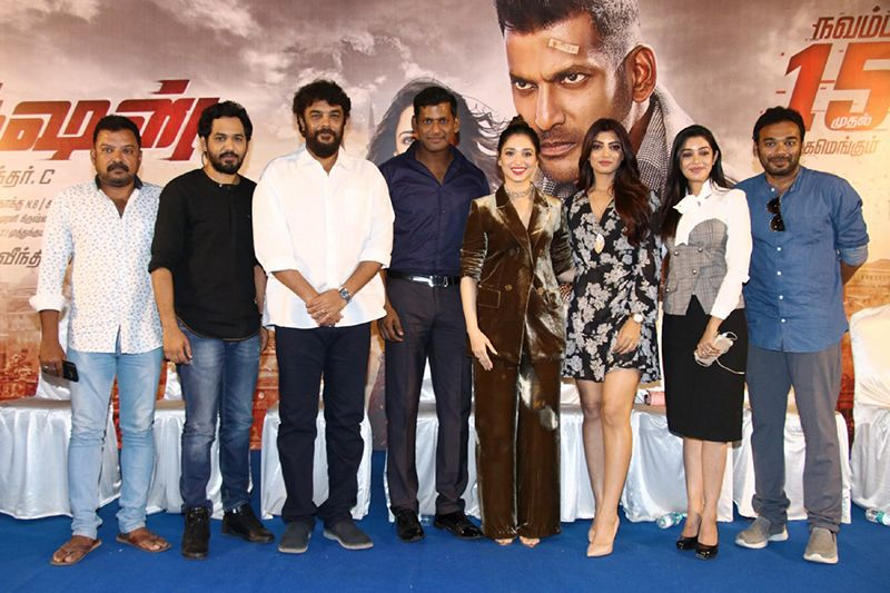 Actor Vishal, Tamannaah Speech @ Action Movie Press Meet