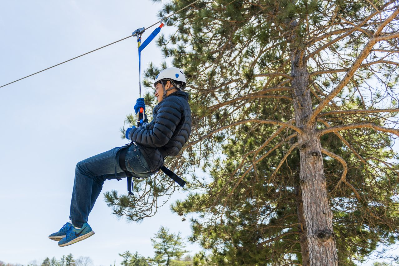 Mt Holiday Zipline Course Ziplining Zipline Adventure Traverse City
