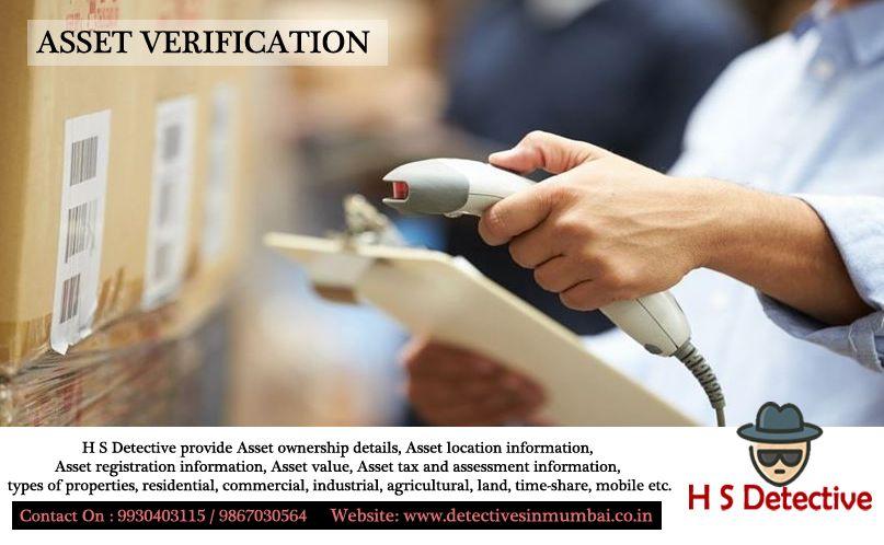 Asset verification h s detective provide asset ownership