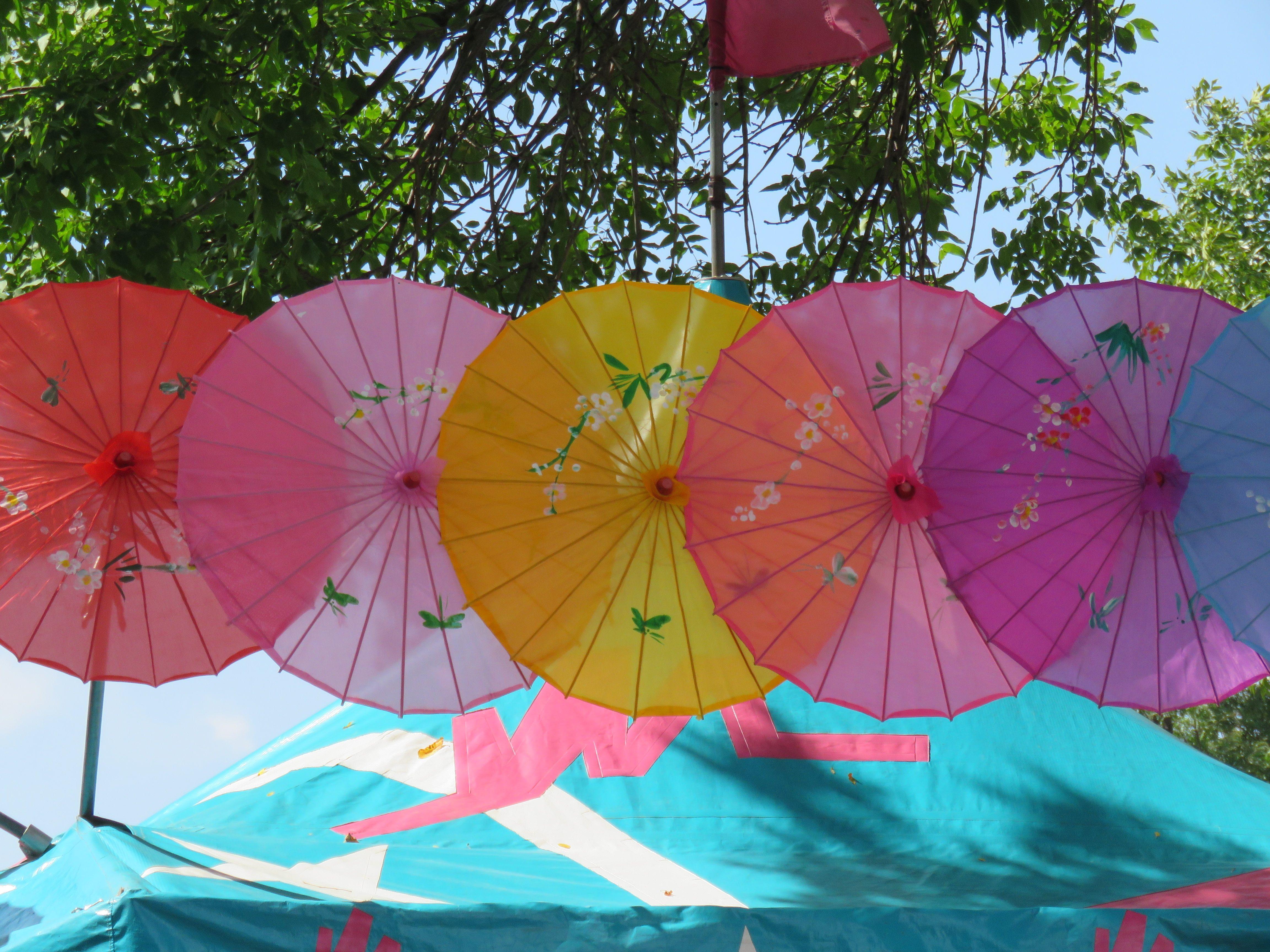 Beautiful parasols at the Minnesota State Fair.