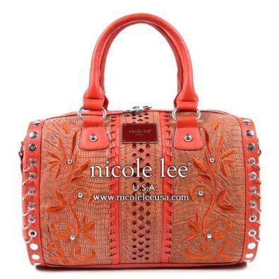 Nicole Lee Bedelia Foilage Handbag Floral Embroidery Purses $72.50