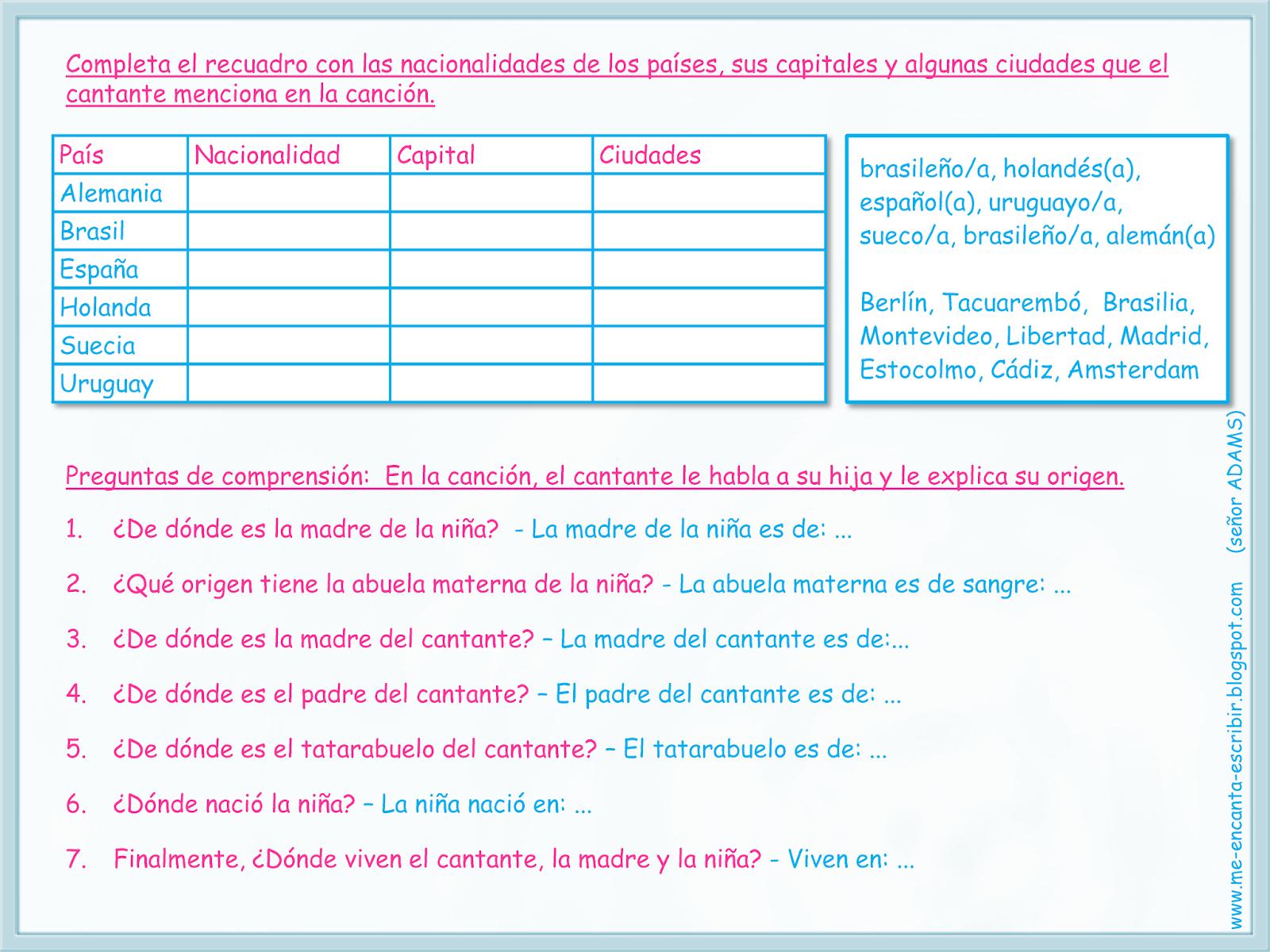 Me Encanta Escribir En Espanol Awesome Worksheets