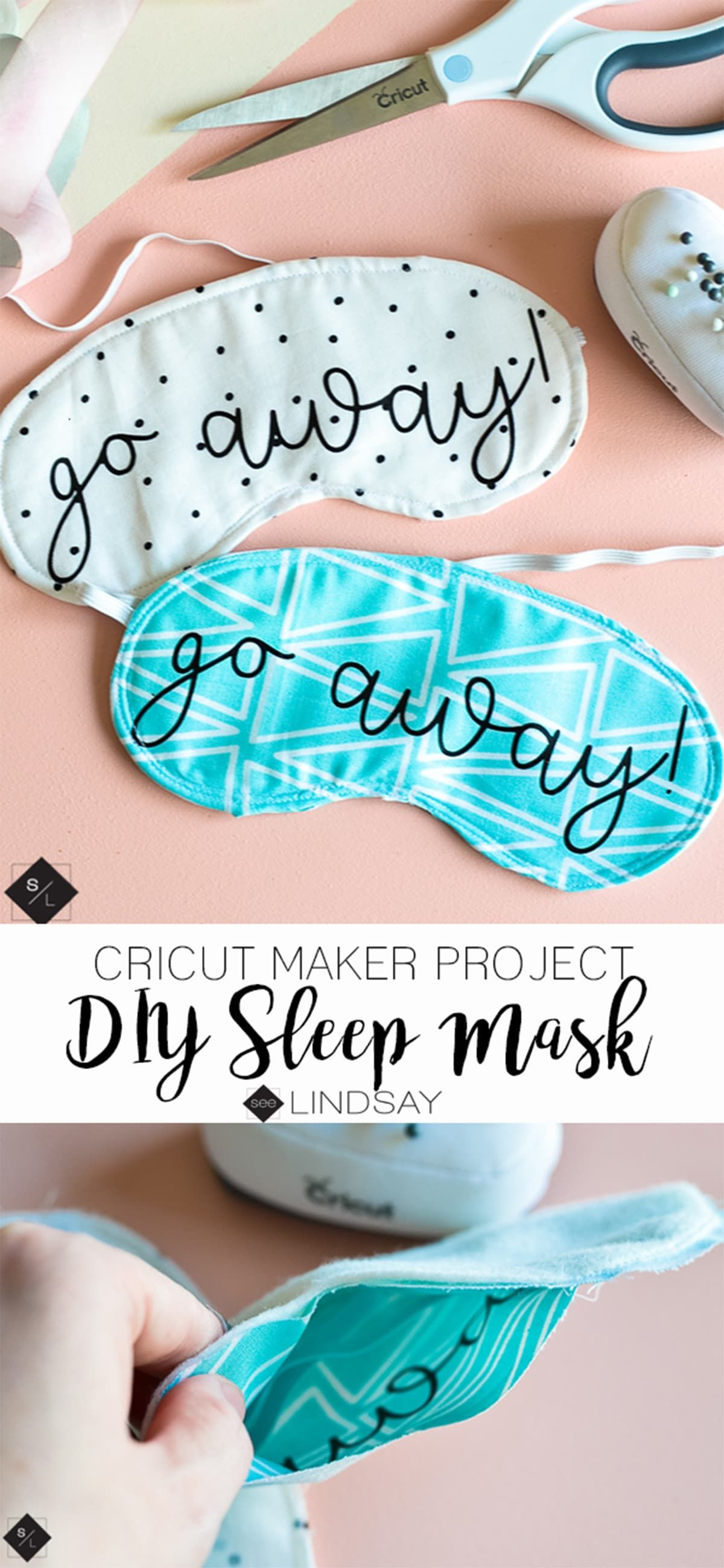 DIY Sleep Mask using your Cricut Maker in 2020 Diy sleep