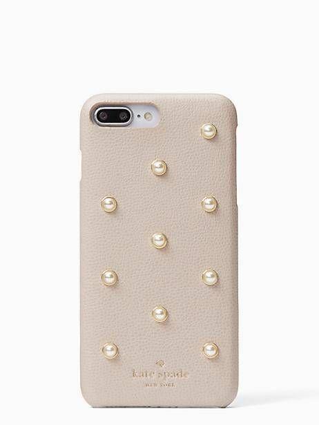cheap for discount c36d9 330d5 Kate Spade pearl applique iPhone 7 & 8 plus case, Warm Beige ...