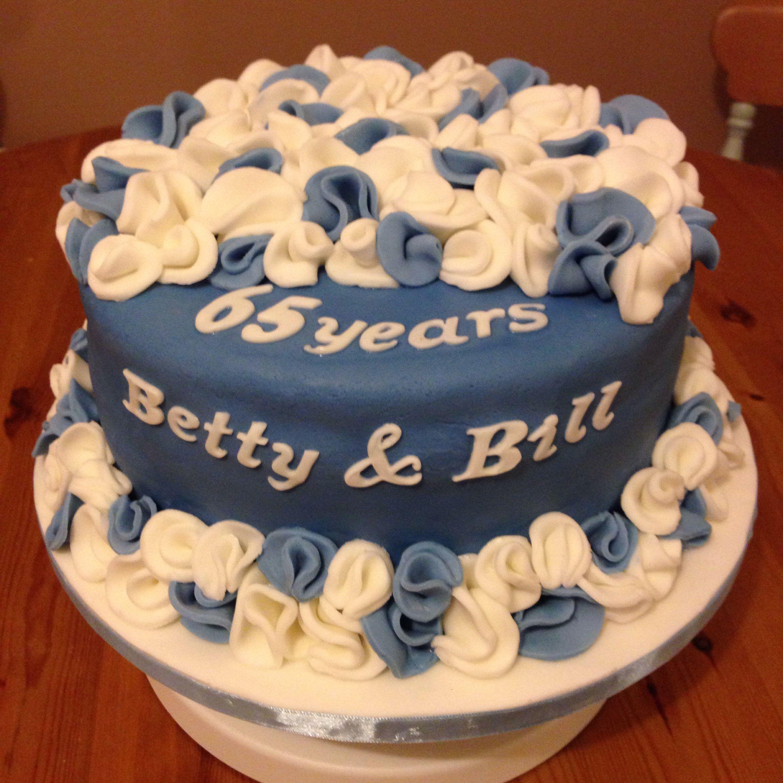 Sapphire, 65th Wedding Anniversary Cake, Red Velvet