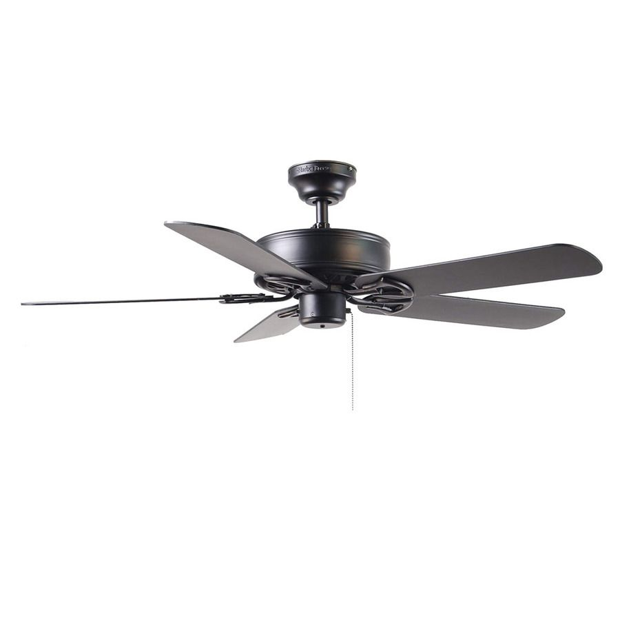 Shop harbor breeze 52 in classic matte black ceiling fan energy star shop harbor breeze 52 in classic matte black ceiling fan energy star at lowes aloadofball Image collections