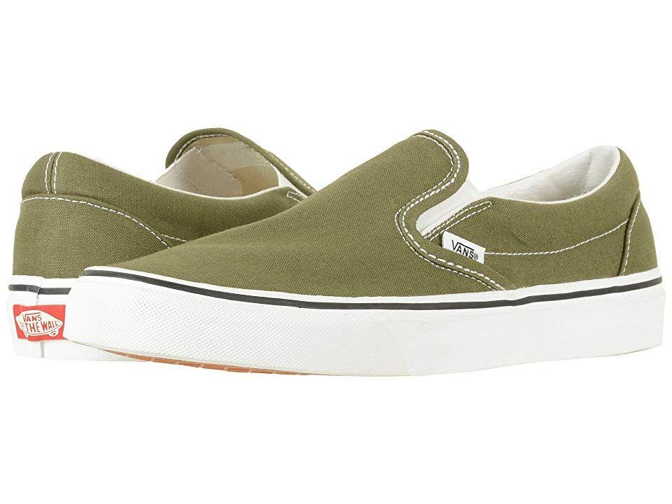 5b74a83325 Vans Classic Slip-Ontm (Winter Moss True White) Skate Shoes. The ...
