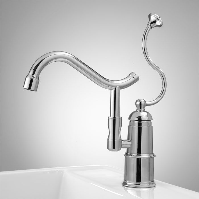 Arlin Single Hole Kitchen Faucet with Swivel Spout - Chrome | Signature Hardware