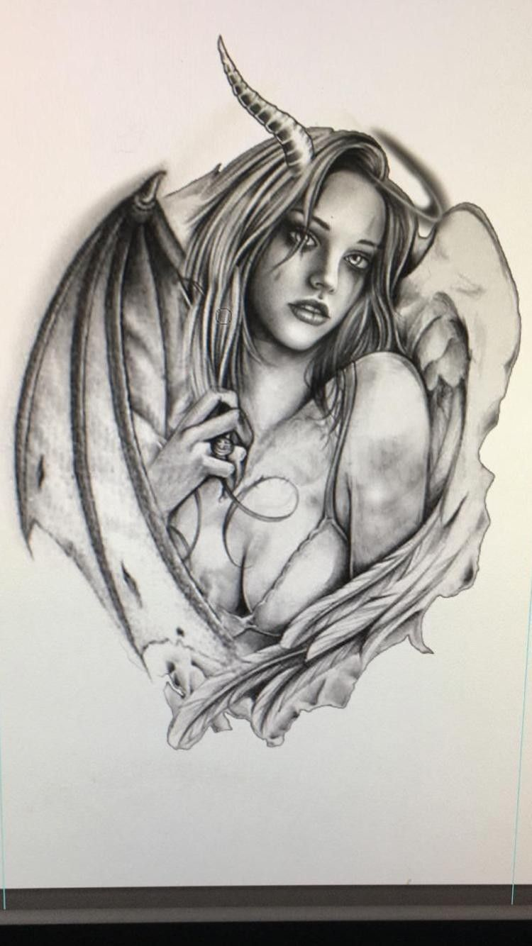 Pin By Brad Brutchn On Dark Angels In 2020 Demon Tattoo Dark Art Drawings Tattoos