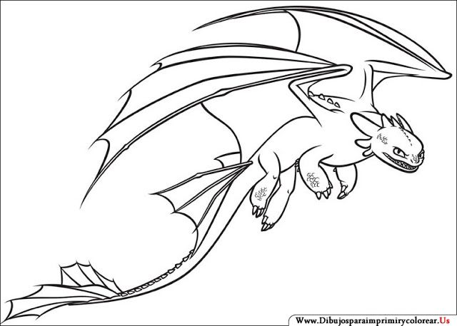 Dibujos de Cómo entrenar a tu Dragón para Imprimir y Colorear ...