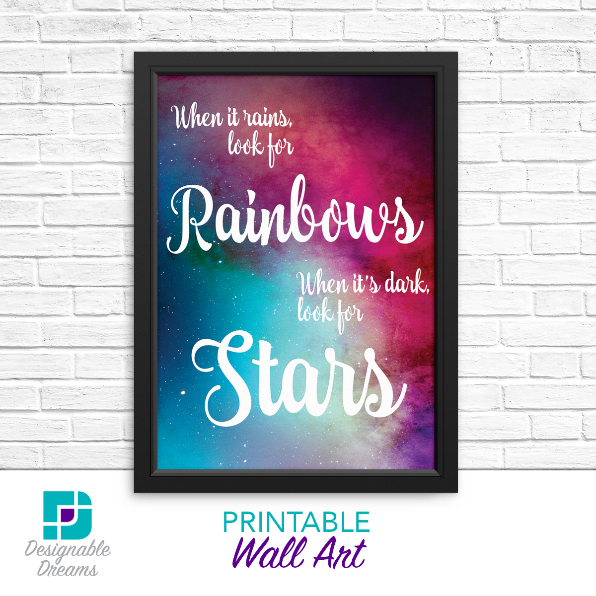 Rainbows & Stars Wall Art