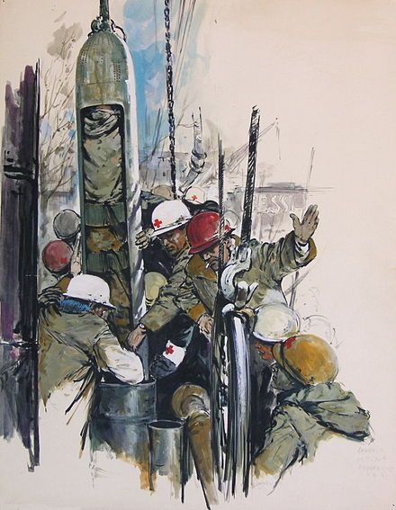 A Watercolor Painting Of The Dahlbusche Bomb The 1963 Precedecessor Of The Phoenix Used In Wunder Von Lengede Pop Art Painting Art