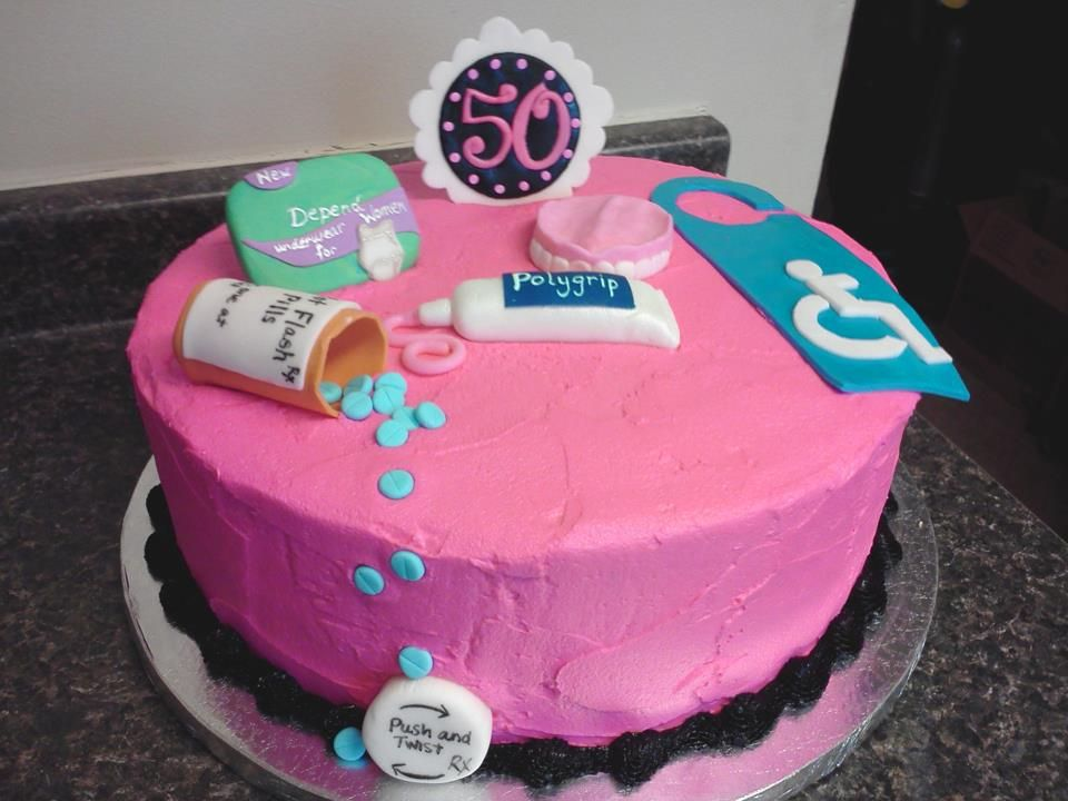 Over The Hill 50th Birthday Cake