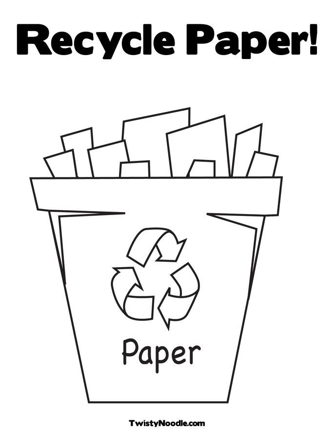 recycling coloring page April