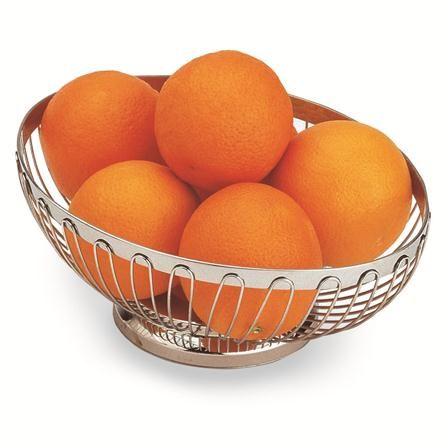 Stainless Steel Oval Bread Fruit Basket 24 5 X 18 Cm Fruteira