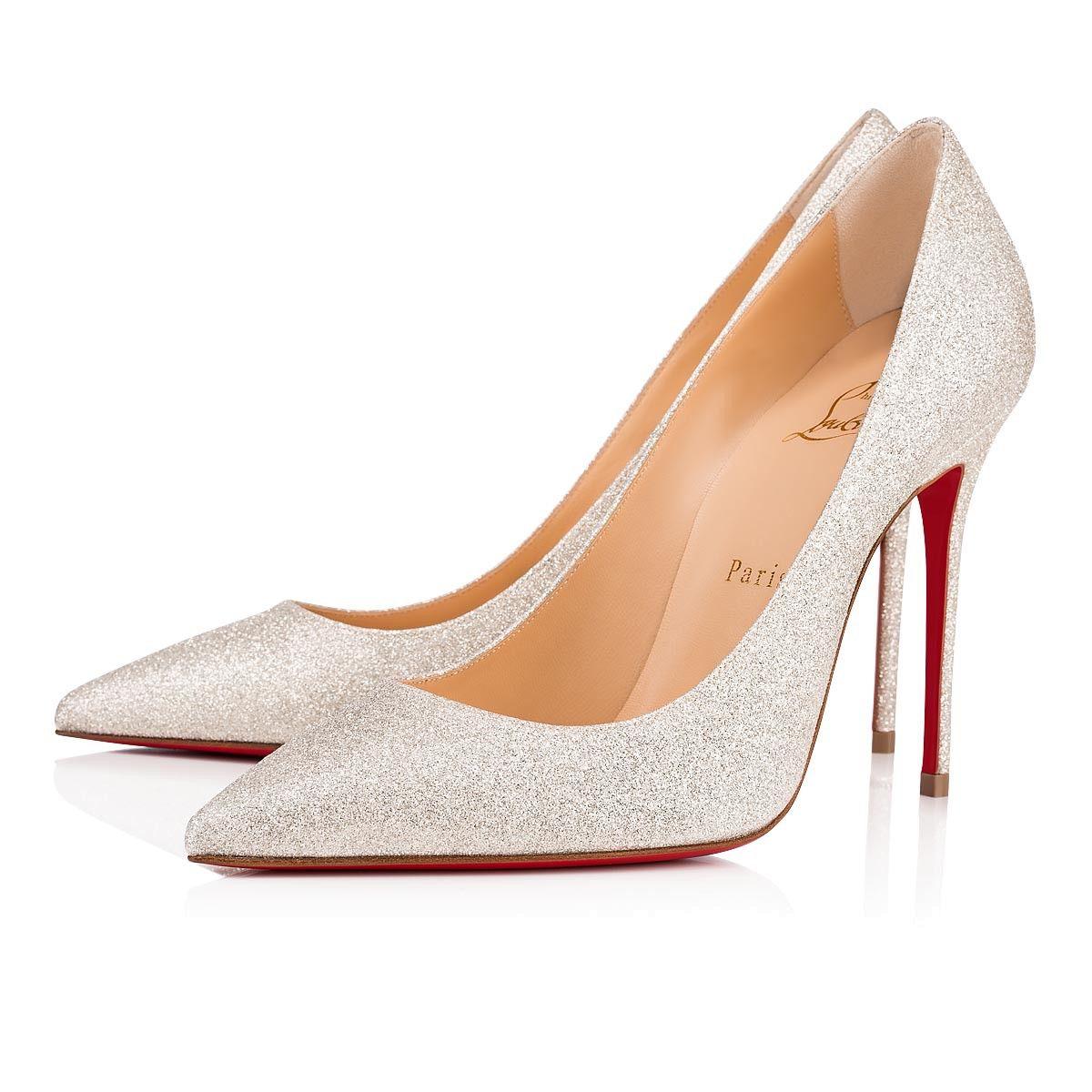 8cc343671d0 NIB Christian Louboutin Pigalle Follies 100 White Latte Wedding Heel ...