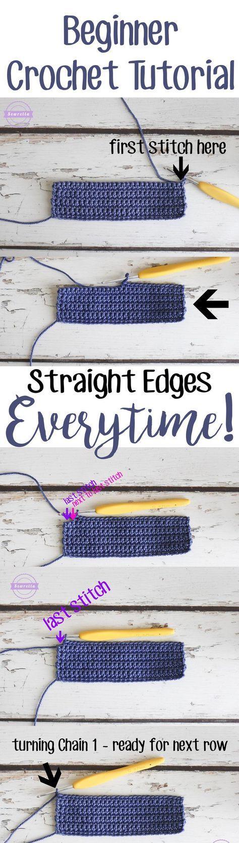 Crochet Tips - Straight Edges Everytime • Sewrella