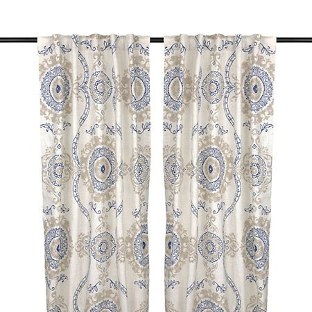 Navy Loretta Curtain Panel Set, 84 in. | Kirklands